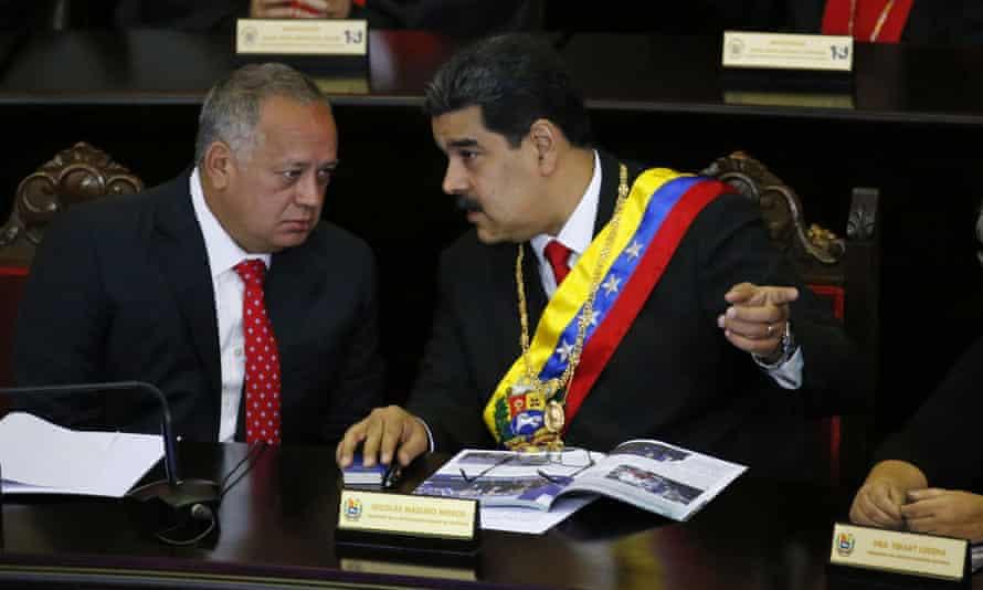 Diosdado Cabello and Nicolás Maduro.