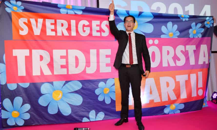 The Sweden Democrats leader, Jimmie Åkesson