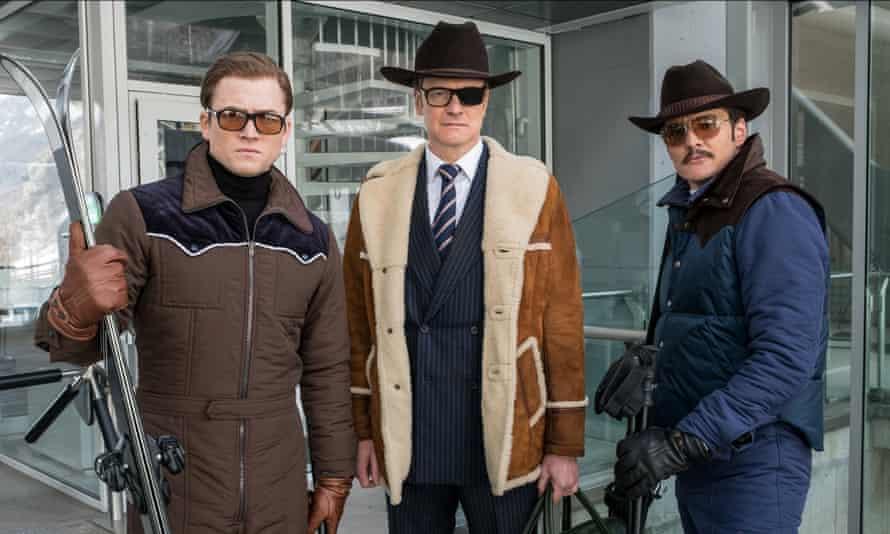 Taron Egerton, Colin Firth and Pedro Pascal in Kingsman: The Golden Circle