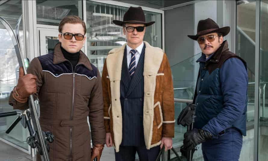 Taron Egerton, Colin Firth and Pedro Pascal in Kingsman: the Golden Circle.