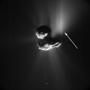 The results of that landslide: an outburst on comet 67P.