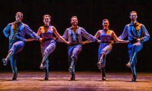 A scene from The Thread by Russell Maliphant and Vangelis at Sadler's Wells, London.