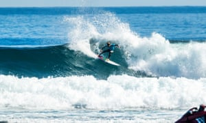 Sally Fitzgibbons surfs at North Point