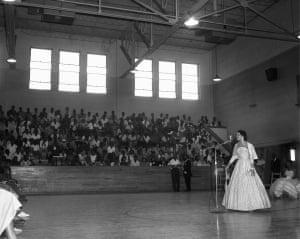 An Assembly at Booker T. Washington High School, n.d. School assembly at Booker T. Washington High School