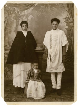 Little Albash, the daughter of a business man from Gojam, as a four year-old in 1941 with her Aunt Berhane and Uncle Mengesha.