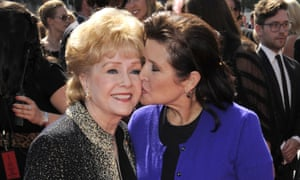 Debbie Reynolds and Carrie Fisher in 2011.