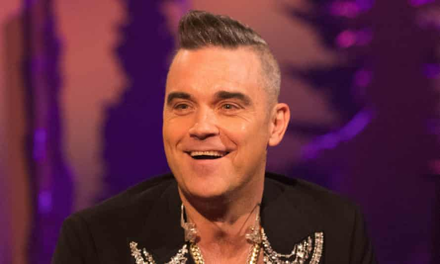Robbie Williams on The Jonathan Ross Show in 2019.