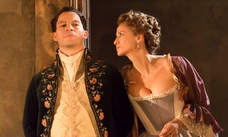 Helplessly ensnared by love... Dominic West and Janet McTeer in Les Liaisons Dangereuses.
