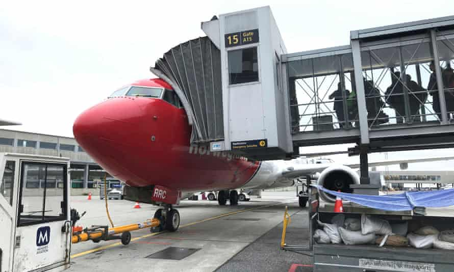 Norwegian Air plane in Oslo