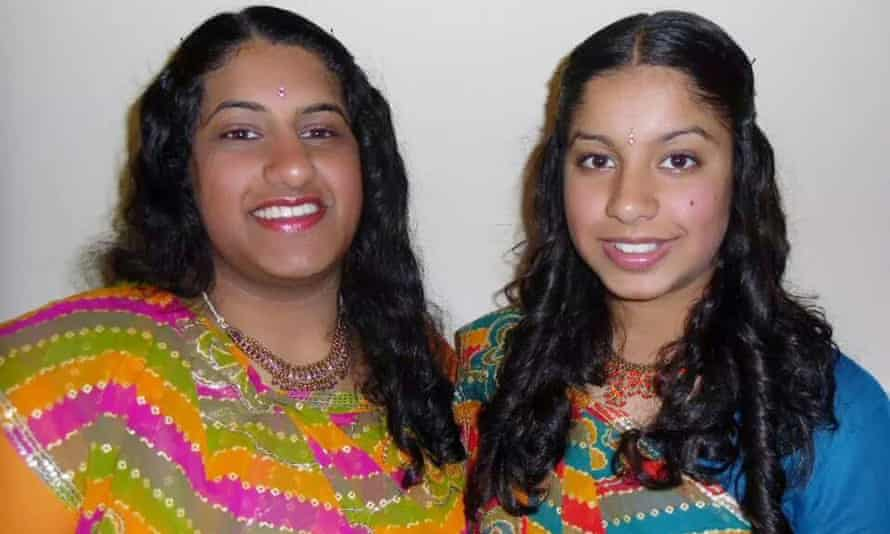 Trisha, left, 19, and Nisha, 17, Lad were murdered with their mother Duksha, 44, by their father Jitendra, 49, in Bradford in 2015.