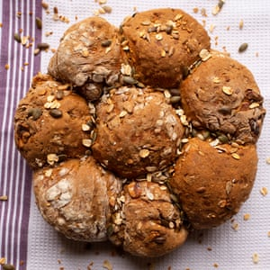 Flour power: treacle, rye and walnut rolls.