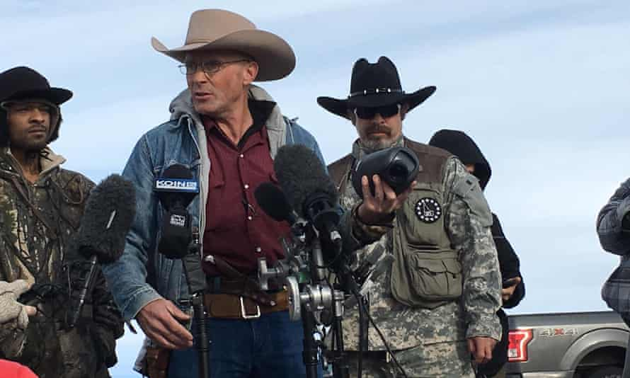 Pete Santilli, right, is one of 16 people indicted in connection with the Oregon militia standoff.