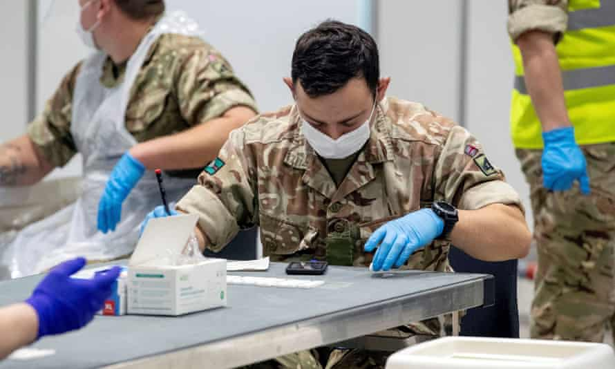 The military will assist mass Covid testing, as they have in Liverpool under the first trial of whole city testing in England.