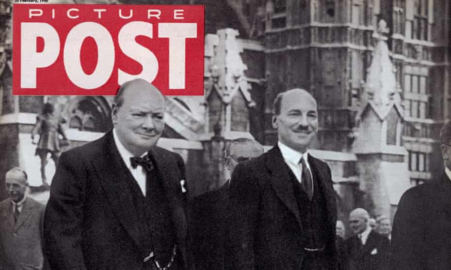 Winston Churchill, left, and Clement Attlee on the cover of a Picture Post election special in 1950, as seen in Picture Stories.