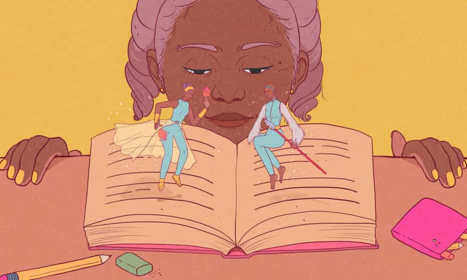 Illustration for Namina Forna article on being a black history fan