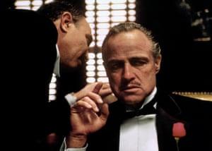 Actor Marlon Brando in the 1972 film The Godfather