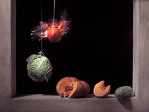 Pomegranate: Off Balance (2006) by Ori Gersht