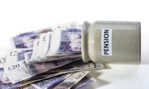 Money spilling out of pension pot