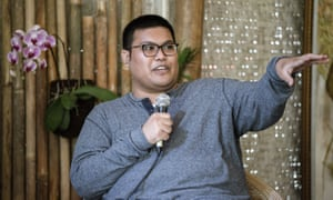 Norman Erikson Pasaribu during the Fantastical Realms panel at Taman Baca.