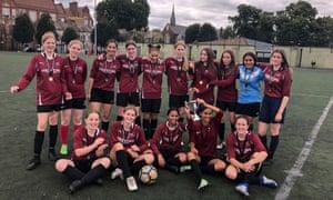 The under-15s team at Stoke Newington School.