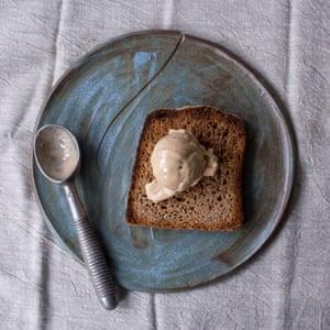Burnt toast sorbet - on toast.