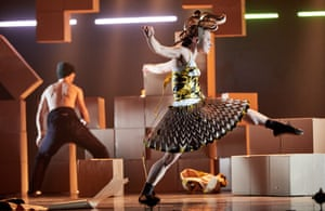 'Embrace the dawn' … a scene from Marc Rees' P.AR.A.D.E., presented by National Dance Company Wales.