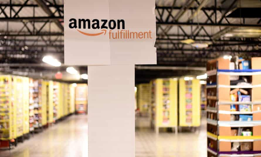 Kiva robots move products at an Amazon fulfilment centre in the US.
