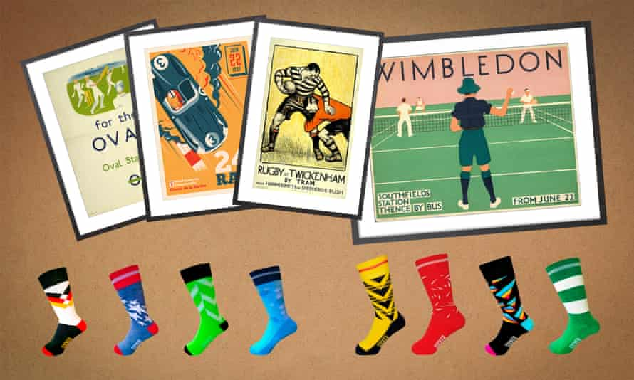 King and McGaw prints: Oval, Racing, Rugby at Twickenham and Wimbledon plus Terry Lyons eclectic sock range from Soccerclub.com