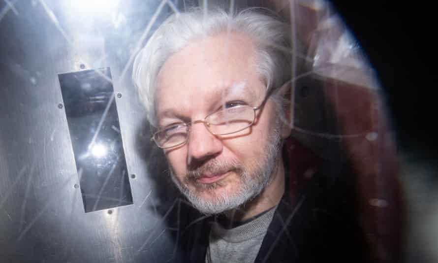 Julian Assange in January this year