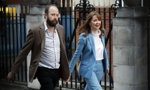 Theresa May's former chiefs of staff Nick Timothy, left, and Fiona Hill after their resignation following the poll result.