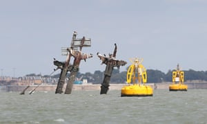 The remains of the SS Richard Montgomery off Sheerness, Kent.