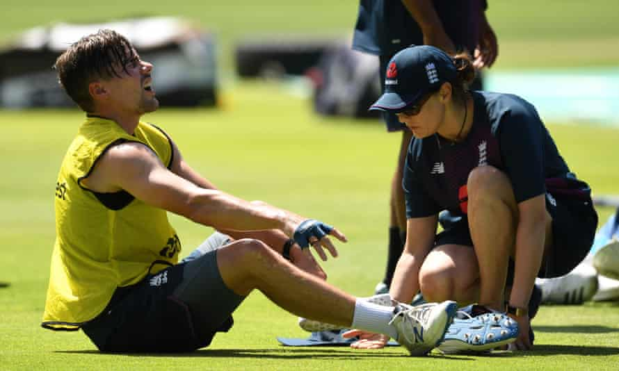 Rory Burns has injured an ankle during England training and is in doubt for the second Test against South Africa at Newlands.