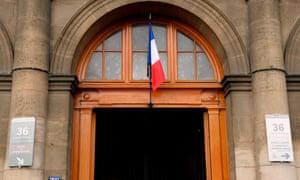 Entrance of the Paris criminal investigation department headquarters