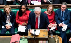 Jeremy Corbyn at prime minister's questions, 16 January 2019.