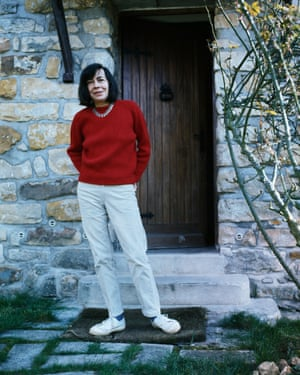 American author Patricia Highsmith at home in 1970.