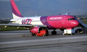 Wizz Air plane on the runway