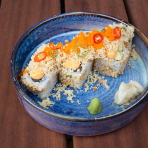 The bluefin tuna crunch roll at Taka, Marylebone.