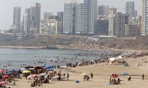 People gather at a public beach on Ramlet al Bayda seaside in Beirut, Lebanon August 2, 2015.