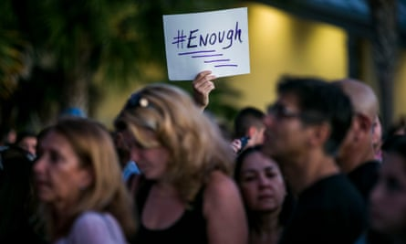 Mourners at a candelight vigil in Parkland on Thursday evening.