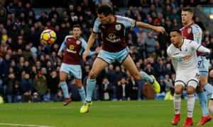Jack Cork puts Burnley ahead against his former club Swansea City at Turf Moor.