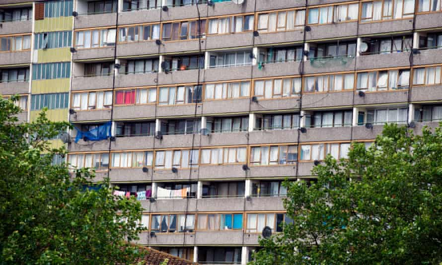 A tower on the Aylesbury estate in south London