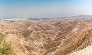 The Jordan Valley with the Dead Sea and Jericho on the horizon, near the proposed location of the Dead Sea Burn event.