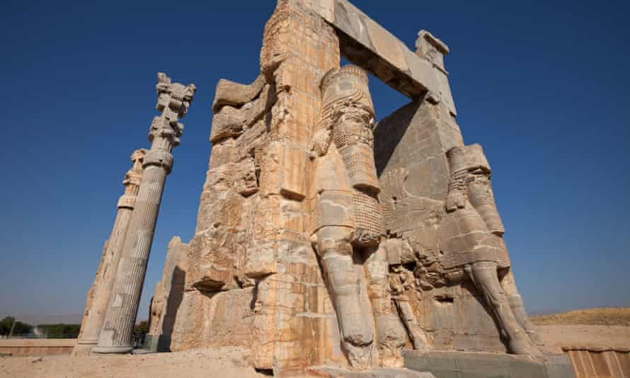 The Gate of All Nations in the ancient city of Persepolis, Iran, which is protected by Unesco.