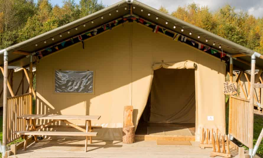 Adventure lodge with veranda and table