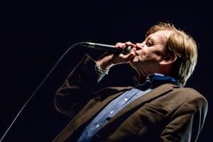 Mark E Smith at Green Man festival in 2015.