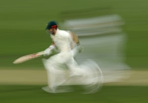 Kurtis Patterson of Australia runs between the wickets during a match in Hobart, Australia