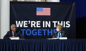 Anthony Fauci and Deborah Birx of the White House coronavirus task force.
