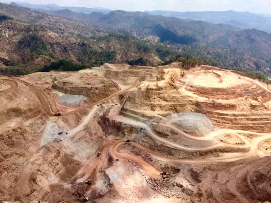 A view of the San Andres open-pit gold mine near the community of Azacualpa, as seen from Cemetery Mountain