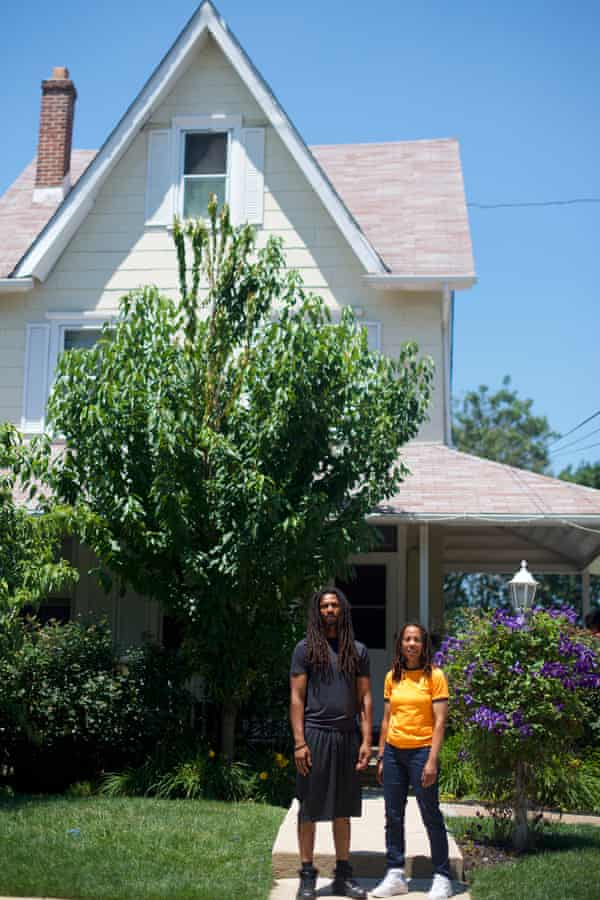 Debbie Africa and her son, Mike Africa, in Clifton Heights, Pennsylvania.