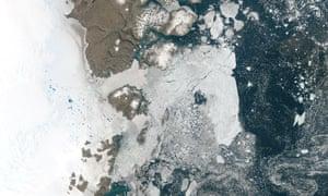 The Zachariae Isstrom glacier in Greenland